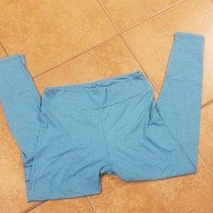 Lularoe blue Tall and Curvy leggings